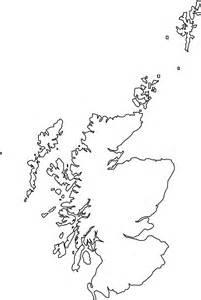 Schottland Karte Umriss