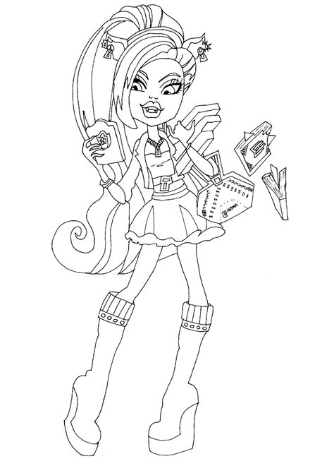 Monster High Clawdeen Coloring Pages Wolf Page With From