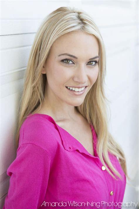 female headshots blonde hair amanda wilson irving