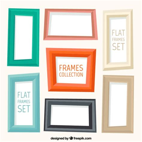 colorful picture frames geometric colourful frames vector free