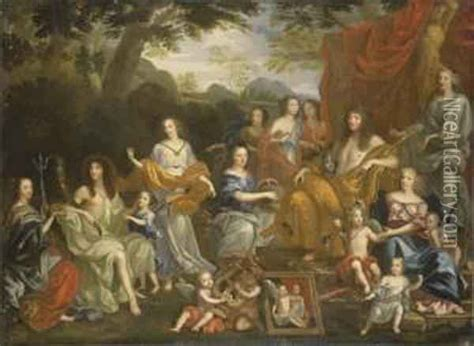 jean nocret family louis xiv la famille de louis xiv oil painting reproduction by jean