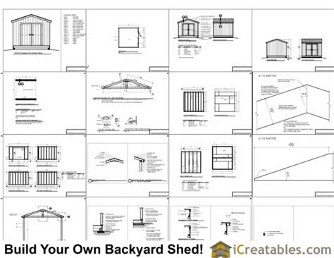 10x10 Shed Plans Materials List by 12x14 Garden Shed Plans Marskal