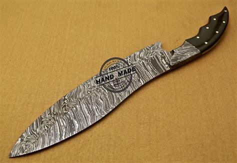 damascus kitchen knives custom handmade full tang damascus kitchen knife with buffalo horn handle 821