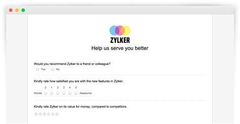 create online surveys and questionnaires for free zoho