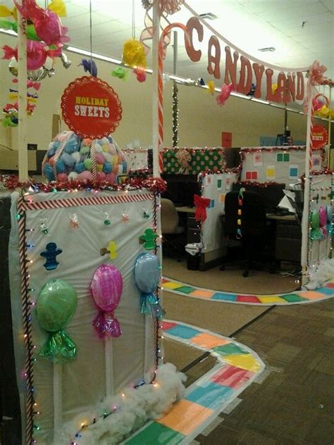 work christmas decorating ideas candyland at work candyland office decorations office