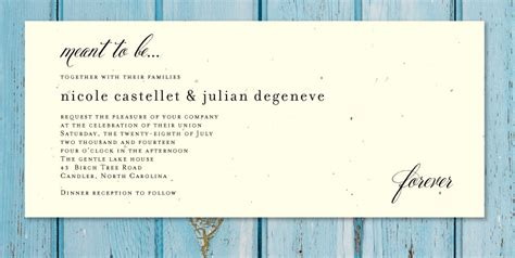 wedding invitation wording ceremony and reception at different venue matik for