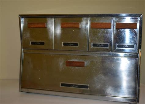 vintage bread box stainless steel bread box wall