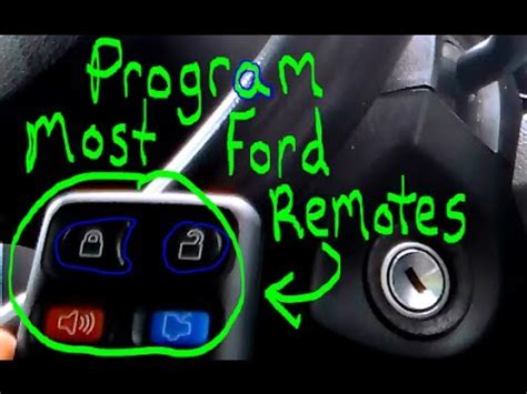 ford escape keyless entry code location