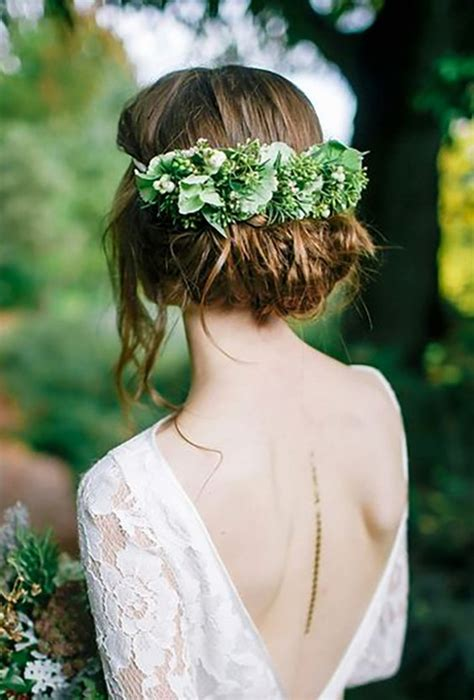 wedding hairstyles  flower crowns perfect