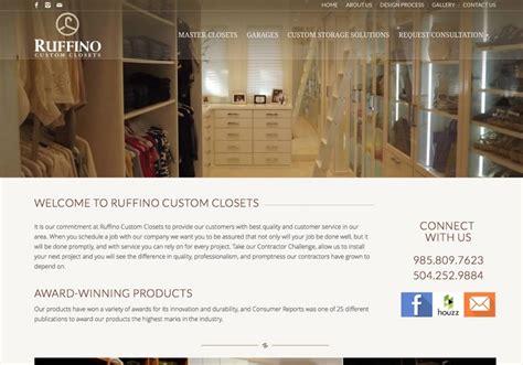 custom closets contractor website design by mdg