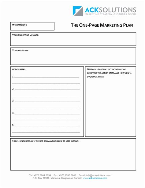 valid  page business plan template