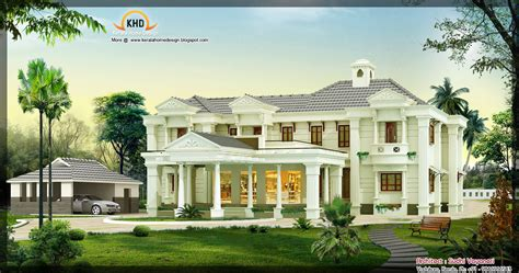 luxury mansion house plans 3850 sq ft luxury house design kerala home design and floor plans