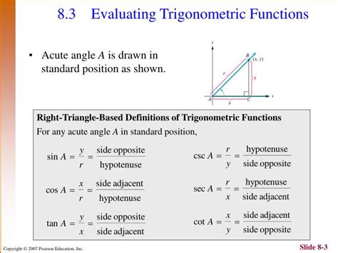 Ppt  Chapter 8 Trigonometric Functions And Applications Powerpoint Presentation Id3774559