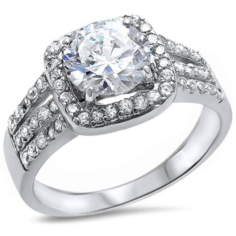 beautiful engagement ring russian cz 925 sterling silver ring sizes 6 9 ebay