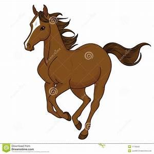 Cartoon horse running stock vector. Illustration of gallop ...