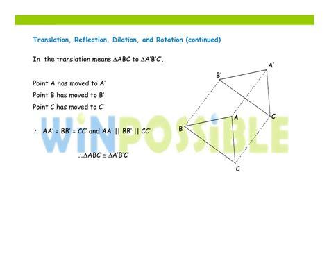 Translation, Dilation, Rotation, Reflectiontutorials Online