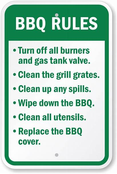 Rules Bbq Sign Grill Signs Grilling Barbecue
