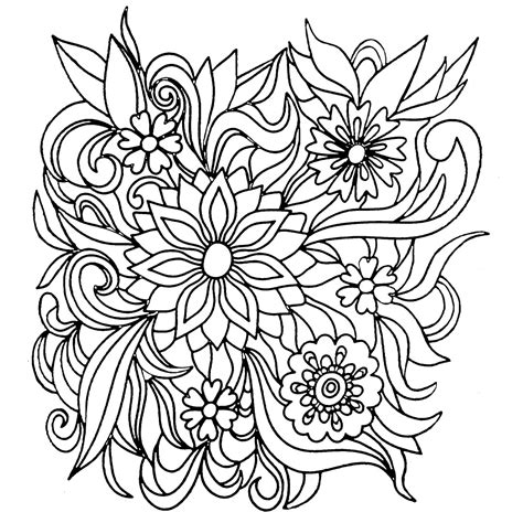 flower coloring books flower coloring pages coloring rocks