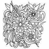 Coloring Flowers Flower Pages Colouring Adult Rocks Floral Books Nature Colors Patterns Zentangle sketch template