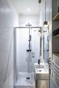 Décoration D Une Petite Salle De Bain : d co petit appartement parisien qui allie le design ~ Zukunftsfamilie.com Idées de Décoration
