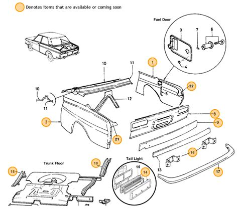 Datsun 510 Restoration Parts by Datsun 510 Rear End Restoration Parts
