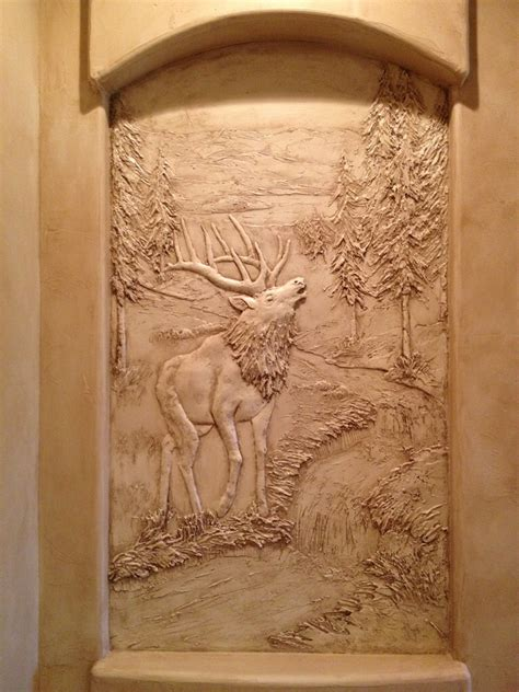 sculptural mural bas relief custom wall art