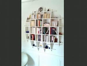 Bibliothèque Design Pas Cher : biblioth que murale design fixations invisibles ronde ~ Teatrodelosmanantiales.com Idées de Décoration