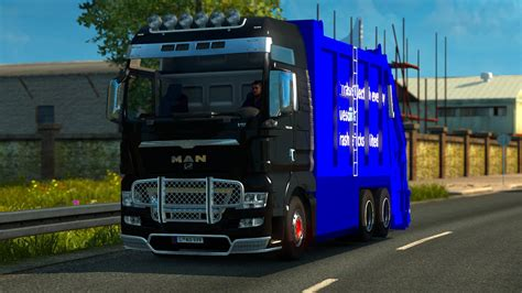 man tgx garbage truck tested   ets mods