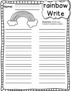 search results for rainbow writing template calendar 2015 With rainbow writing spelling words template