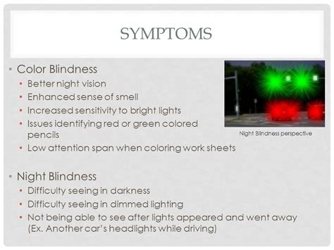 color blindness symptoms and color blindness ppt