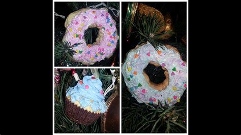 diy cupcake donut christmas ornaments youtube