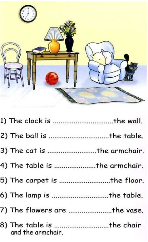 Preposition Of Place Pdf Exercises  English  English Prepositions, Prepositions, Grammar Lessons