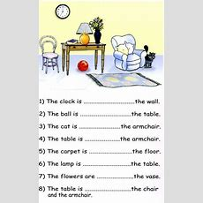 Preposition Of Place Pdf Exercises  English  English Prepositions, Grammar Lessons, English