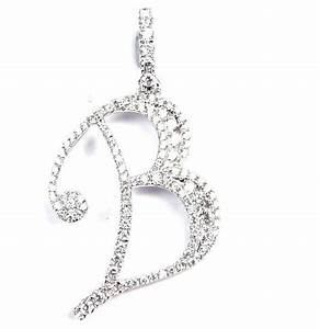 diamond letter quotbquot pendant is 231mm by 193mm our With letter b diamond pendant