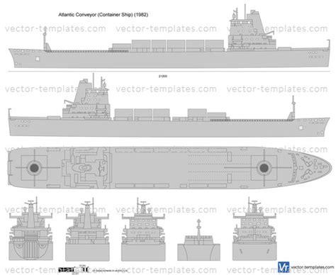 templates ships ships  atlantic conveyor