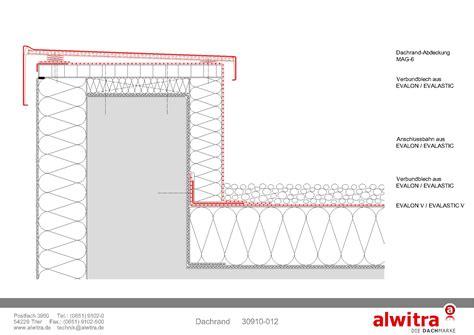 flachdach ohne attika attika warmdach alwitra