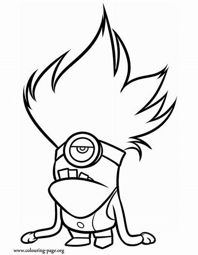 Coloring Pages Minion Evil Despicable Colouring Minions