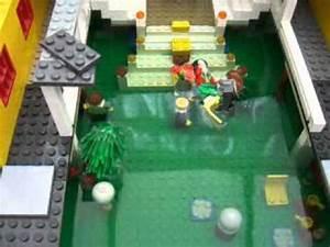 Lego Titanic stopmotion test/ set sinking - YouTube