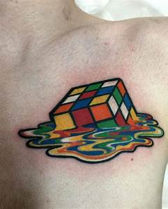 Melting Rubiks Cube tattoo by Laetitia at Angel Tattoos in ...