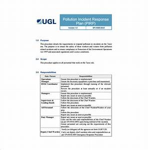 11 incident response plan templates free sample With incident response procedure template