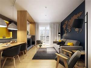 Modern, Scandinavian, Apartment, Interior, Design, With, Gray