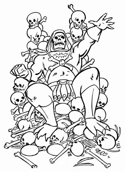 Coloring He Throne Skull Skeletor Universe Masters