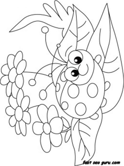 print  happy face ladybug coloring page printable coloring pages  kids