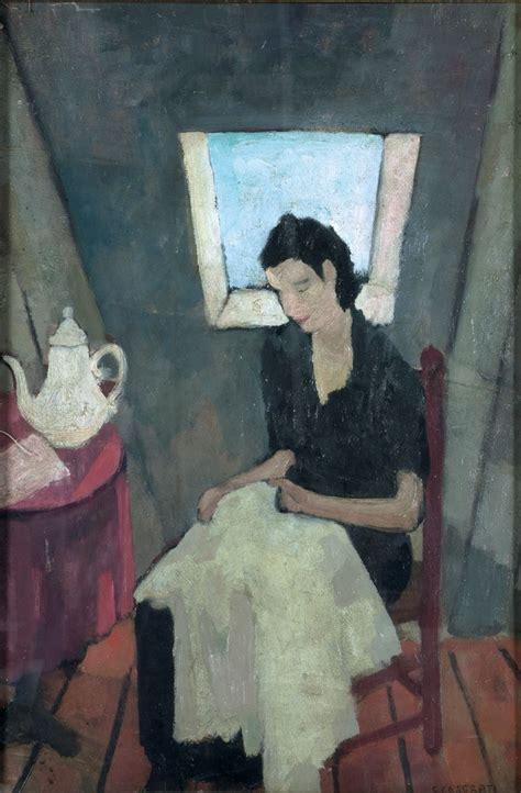 Nella Soffitta by Casorati Felice Cucitrice Nella Soffitta 1931 248 Canale