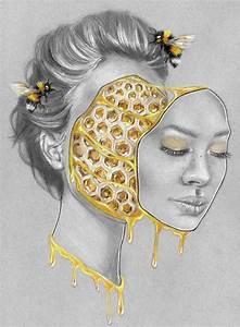 hive mind colored pencil 8 5x11 quot surreal