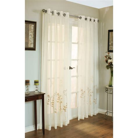 habitat semi sheer embroidered curtains 108x95
