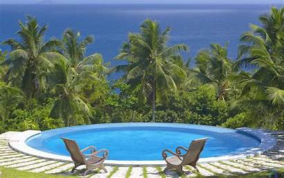 Swimming Pool Desktop Seychelles Wallpapers Tuning Ocean