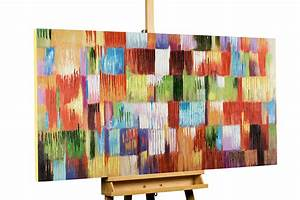 Bilder Acryl Modern : abstraktes acrylbild bunte kacheln kubismus kaufen kunstloft ~ Sanjose-hotels-ca.com Haus und Dekorationen