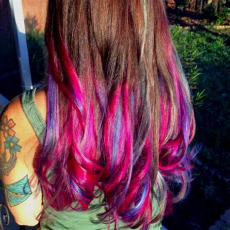 I Did It Multi Colored Dip Dyed Ombre Hair Makeup