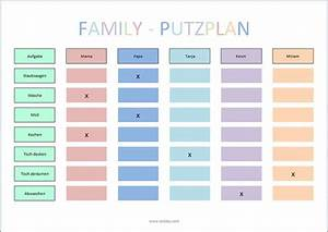 Erstausstattung Haushalt Liste : putzplan f r die ganze familie haushaltsplan erstellen pinterest ~ Markanthonyermac.com Haus und Dekorationen